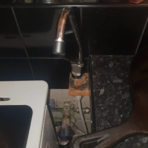 installed filtered water tap